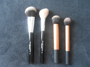 Face brushes I used for foundation,contour and setting.