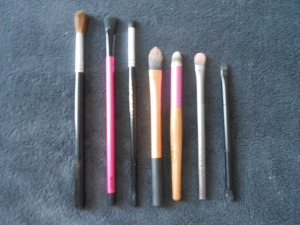 Brushes I Used for my eye makeup
