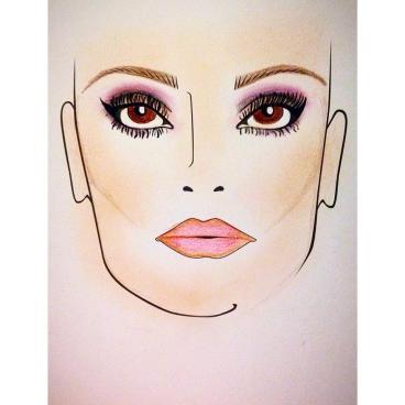 face chart of arabian eye look